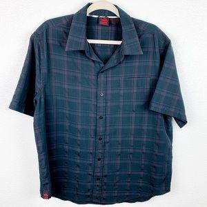 😄 Tony Hawk plaid short sleeve button down shirt